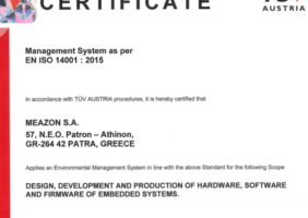 Meazon Certification ISO 14001 : 2015
